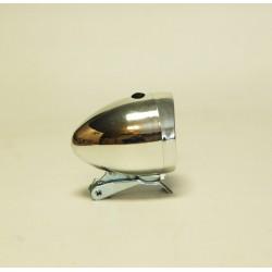 Lampa przód  retro chromowana na baterię z uchwytem